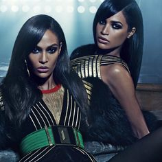 Joan Smalls and Her Sister Look Hot as the Stars of the New Balmain Campaign