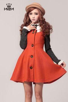 Korean Fashion Long Sleeve Lapel Two Pieces Coat