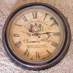 Grande horloge murale - idée cadeau décoration masculin - horloge décoration rustique