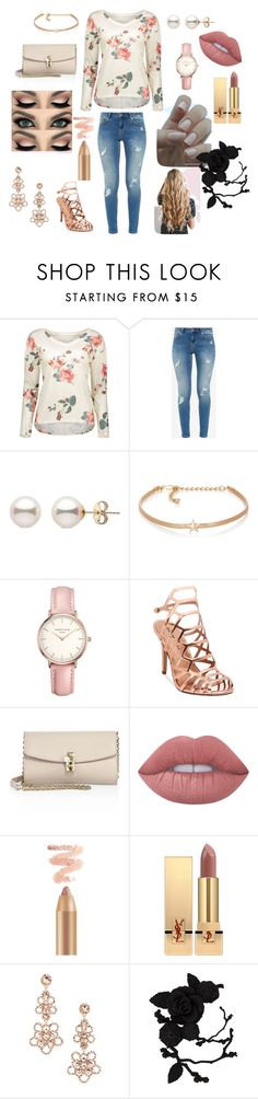 """""""Roses"""" by die-ammy ❤ liked on Polyvore featuring Ted Baker, Kenneth Jay Lane, Topshop, Madden Girl, Dolce&Gabbana, Lime Crime, Yves Saint Laurent, Kate Spade and olgafacesrok"""