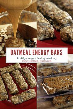Oatmeal Energy Bars TeamSam Fitness