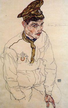 Russian Prisoner of War | Egon Schiele | oil painting