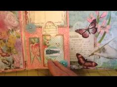 "▶ Scrapbookgiggles Shabby Rose ""Family"" Themed Scrapbook Album Bulky Bliss - YouTube"