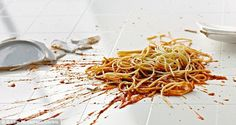 Moist foods, including pasta, stock image pictured, and sweets could be picked up within the five-second window and not collect bacteria - but after five seconds, the risk of infection jumped. Tiled and laminate flooring were the worst floor types for bacteria, and transferring this bacteria to the food