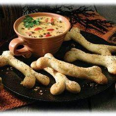 Bone Chillin' Breadsticks & Halloween Dip