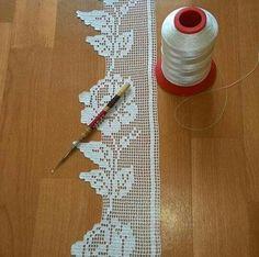 Com - Diy Crafts - hadido Spiral Crochet, Crochet Lace Edging, Crochet Borders, Crochet Flower Patterns, Crochet Squares, Thread Crochet, Crochet Trim, Crochet Designs, Crochet Doilies