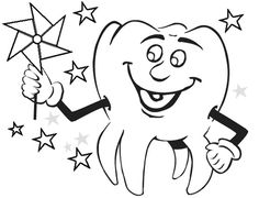 Tooth Brushing Himself at Dentist Coloring Pages | Optimal Dental ...