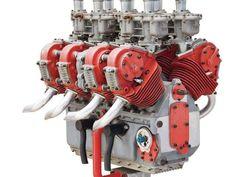 Weird air-cooled V-8 engine