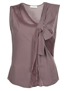 NINA RICCI Sheer Panel Pleated Top