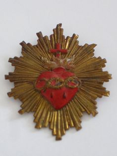 Antique French Flaming Heart