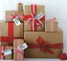 5 ideias de embrulhos de presente de Natal
