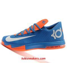 online retailer 77c49 4b5f5 Nike KD VI 6 white orange Kevin Durant Basketball shoes