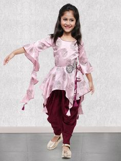 Buy 1 to 16 year Kids Salwar Kameez Online. Shop Online salwar kameez for kids in Dhoti, Palazzo, Anarkali style. Best Children salwar kameez collection for wedding, party, festival wear. Girls Frock Design, Kids Frocks Design, Baby Frocks Designs, Baby Dress Design, Baby Suit Design, Girls Dresses Sewing, Stylish Dresses For Girls, Stylish Dress Designs, Dresses Kids Girl