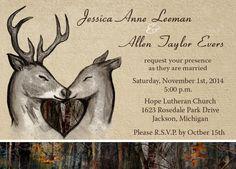 Custom Camo and Deer themed invitations by Camo Celebrations