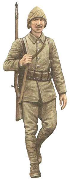 Żołnierz armii tureckiej, Gallipoli, 1916.