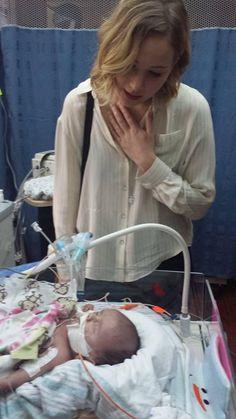 Jennifer Lawrence visiting the Kosair Children's Hospital in Louisville, Kentucky today (December 24)