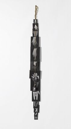 Annette Messager MES VOUEX, numbered consecutively on the reverse of each element, black and white photographs, tape and string assemblage in artist's frame, in 16 parts overall: 118 by 6 in. Photography Projects, Fine Art Photography, Op Art, Environmental Art, Conceptual Art, Art Plastique, Medium Art, Collage, Traditional Art