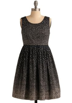 Sprinkled with Sweetness Dress in Navy | Mod Retro Vintage Printed Dresses | ModCloth.com - StyleSays