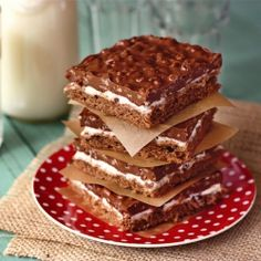 Double chocolate marshmallow crispy bars. Sound soo good, so I'll try to make them this week!