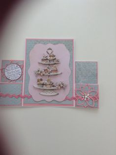 Stepper card using Papermania Bellisima papers and Marianne flower die