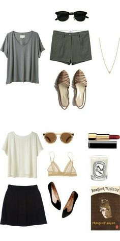 Minimal + Classic: two basic casual summer looks