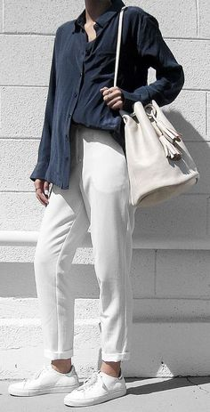 cool casual style outfit shirt + bag + pants