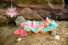 6-12 mons Crochet Baby Mermaid Tail Prop Sets made to order