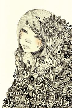 Lovely illustration created by RoseWong, Brooklyn, NY http://www.etsy.com/listing/67395423/weighed-down-by-complexity-print