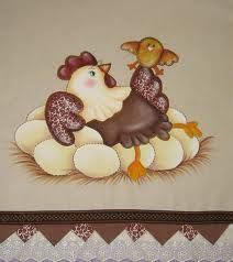 pintura country no tecido - Pesquisa Google Chicken Bird, Pintura Country, Country Paintings, Coq, Farm Animals, Bowser, Needlework, Decoupage, Burlap