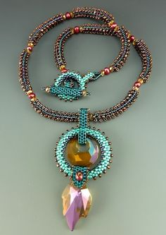Autumn Moon Rise Necklace Kit by artist Laura McCabe.