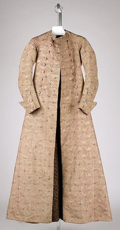 Banyan: ca. 1760; French, silk and linen