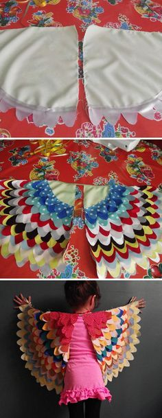 Vogelflügel für Kinder – Best DIY images in 2019 Sewing Projects For Kids, Sewing For Kids, Diy Crafts For Kids, Sewing Crafts, Dress Up Outfits, Dress Up Costumes, Diy Costumes, Fete Halloween, Costume Halloween