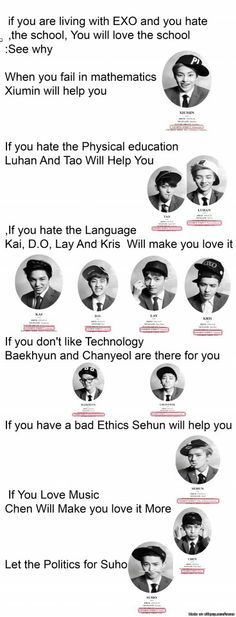 EXO will help you love school ^.^