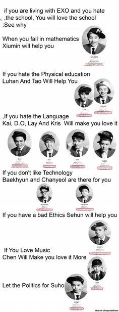 EXO will help you love school ^.^