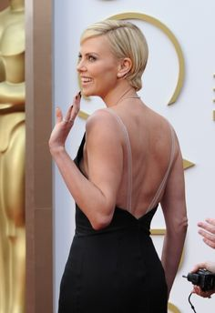 charlize theron style magazing 2014 | Charlize Theron attends the 86th Annual Academy Awards 180715