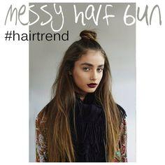 HAIR TREND | Messy half bun