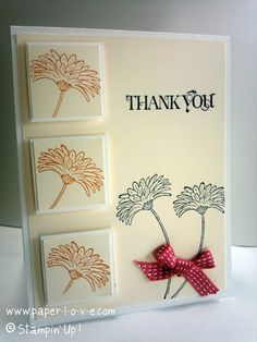 Thank You Card - Stampin Up All Occasion Hand Stamped Greeting Card