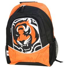 NFL Team Logo Backpack - Cincinnati Bengals by MVF. $14.97. Show off your favorite team with this standout team logo backpack. Has to large pockets for books, laptop, or use it for a weekend trip. It has a reinforced bottom, padded adjustable shoulder straps, and top carrying handle.