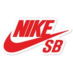 Red Nike SB Logo Sticker Logos Nike, Vans Logo, Mac Stickers, Brand Stickers, Skateboard Logo, Skateboard Design, Logo Sticker, Sticker Design, Nike Sb Red