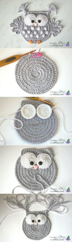 Baby Knitting Patterns 5 ungelesene Chats knitting and crochet Baby Knitting Patterns 5 ungelesene Chats (NewBorn Baby Stuff) Crochet Owl Applique, Crochet Motif, Crochet Flowers, Crochet Shawl, Crochet Appliques, Blanket Crochet, Crochet Birds, Crochet Squares, Granny Squares