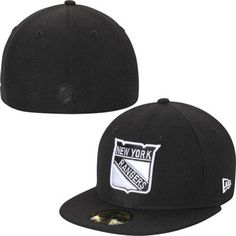 Mens New York Rangers New Era Black Basic 59FIFTY Fitted Hat