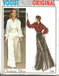 1970s Christian Dior Vogue Paris Original 2795