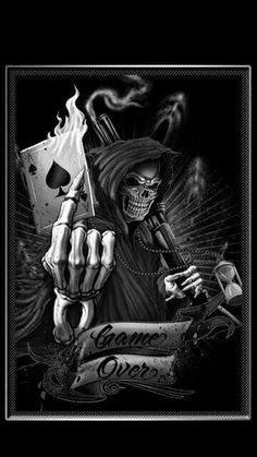 #Monochromatic Monday  Ace of Spades