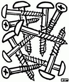 tools and utensils coloring pages printable games - Tools Coloring Pages Screwdriver