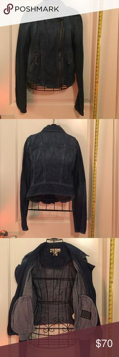 Lucky Brand Denim Biker Jacket Edgy Denim in a Biker Jacket cut. Worn once. 100% cotton. Lucky Brand Jackets & Coats