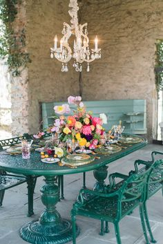 green wedding tables - photo by Becca B Photography http://ruffledblog.com/colorful-virginia-spring-wedding-inspiration