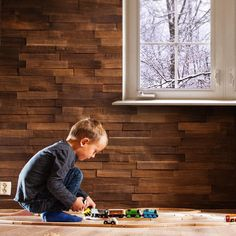 AD Wall Panel #Relieffvegg bring nature into any house or cabin.  Here we see togfører Erling (4½) on the floor in front of the hand split wall panel, which comes in a variety of denominations and several different types of wood.  #levlandlig #trepanel #veggpanel #rustikk Photo: @fritzoeengros (importer / distributor in Norway)