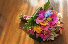 Blue Green Orange Pink Purple Yellow Bouquet Spring Summer Wedding Flowers Photos & Pictures - WeddingWire.com