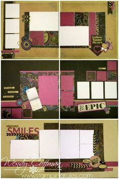 Stamping Rules!: Laughing Lola Monthly Memories Club scrapbook page layouts CTMH