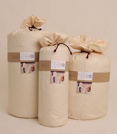 Bedding in a bag wrap band